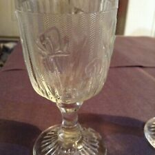 """Vintage 4""""1/2"""" glass Bee and flower goblet"""