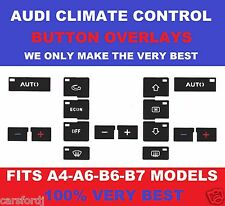 Set of stickers to repair the buttons on the AC unit for Audi A4 B6;B7 /A6