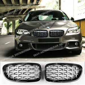 BMW 5 Serie F10 F11, Familiar, M Rendimiento Diamante Parrilla, M5 M550i Miradas