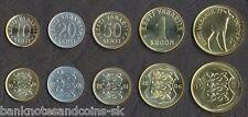 ESTONIA COIN SET 10+20+50 Senti +1+5 Krooni 1993-2006 UNC UNCIRCULATED LOT of 5