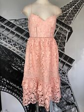 Club Monaco Womens 4 Pink Lace Spaghetti Strap Cocktail Sheath  Dress KK