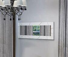 Kenia Specchiera Moderna con intagli intarsi bianco laccato lucido Design