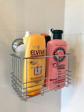 EasyDIY Mount Super Suction Shower Caddy Chrome Bathroom Storage Rack Deep Large