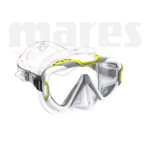 Mares Pure Wire Mask ~ Clear Skirt / Yellow Frame