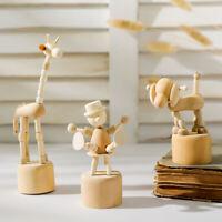Cartoon wooden artwork Ornaments clown horse giraffe dog statue crafts toy