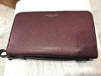 Michael Kors Warren Mens/Unisex Money Bag 2X Zip Jumbo Travel Organizer Wallet
