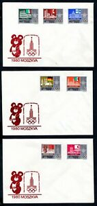 Hungary - 1980 Moscow Olympics on 3 x Covers