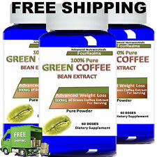 3X Pure SUPER Green Coffee Bean Extract Weight Loss Diet 800mg Chlorogenic Acid