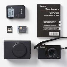 Canon PowerShot G7 X 20.2 MP Digital Camera Black 3 Batteries 32GB SD Card Case