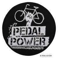 Pedal Power Sew on Iron on Patch Badge Embroidered for Clothes Bags etc