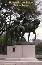 Robert E. Lee Confederate Civil War Statue Dallas Texas Park 1936-2017, Postcard