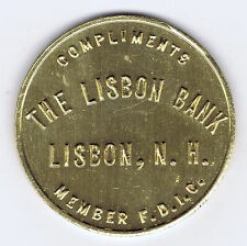 THE LISBON BANK NEW HAMPSHIRE 1763 - 1963 BICENTENNIAL ANNIVERSARY 35 MM MEDAL