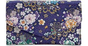 Steve Madden Global Patent Small Envelope Clutch Crossbody Bag, Blue Floral
