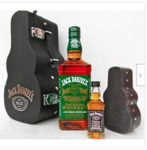 Jack Daniels Guitar/Case Green Label Bottle 750Ml 40% With RARE Mini Version!!!!