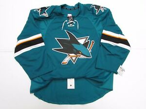 SAN JOSE SHARKS AUTHENTIC HOME TEAM ISSUED REEBOK EDGE 2.0 7287 JERSEY SIZE 58