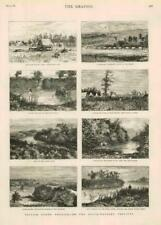 1881 Antique Print - CANADA MANITOBA SOURIS RIVER ALBERTA TURTLE MOUNTAIN (258)