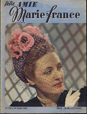 Votre amie Marie France n°123 du 25/03/1947