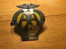 Vintage Car Grille Badge AA