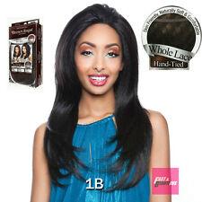 BS401 - Brown Sugar Human Hair Style Mix Swiss WHOLE LACE Wig Hand Tied
