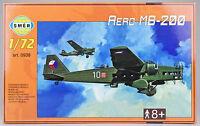 SMER Aero MB-200, tschechischer Bomber, Flugzeug, Bausatz 1:72, 0938