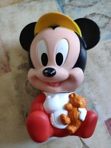 Mickey Mouse Baby Disney Jouet Figurine Pouet Ancien Vintage Arco