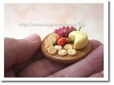 Miniature Food: A set of Fruit,Cracker and Cheese