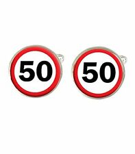 50th Birthday Road Sign Mens Cufflinks Ideal Birthday Gift C327