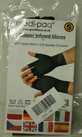 Medipaq, Anti ARTHRITIS Fingerless Copper Infused Gloves BLACK Size Small -New