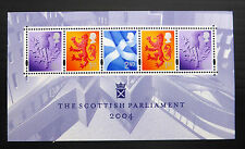 GB 2004 Scottish Parliament M/Sheet Face Value £2.57 NEW SALE PRICE FP326