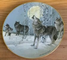 1991 Princeton Gallery Arctic Majesty Song to Wilderness Wolf Collector Plate
