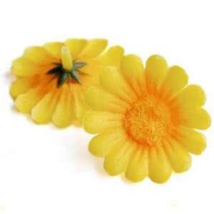 50 Artificial Gerbera Daisy Chrysanthemun Silk Flower Heads Wedding Decor 40mm