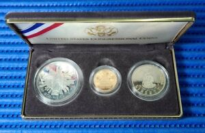 1989 United States Congressional Three Coin Proof Set