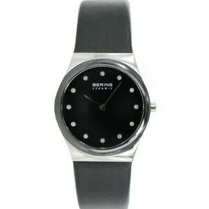 Bering Damen Uhr Armbanduhr Slim Ceramic - 32230-442 Leder