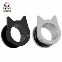 Batman Shape Ear Gauges and Ear Tunnels Body Piercing Jewelry Ear Plugs 2pcs