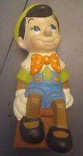 Vintage Walt Disney Production Pinocchio Figure Ceramic Statue Home Decor Unique