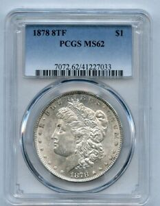 1878 8 Tail Feather $1 Morgan Silver Dollar PCGS MS 62