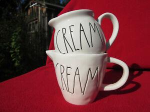 "RAE DUNN ""CREAM"" CREAMER M STAMP MAGENTA EXCLUSIVE PLUS ARTISAN COLLECTION BONUS"