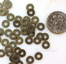 Micro Washers, Embellishments, Antique Brass, TierraCast, 6.35mm, 100 Pcs, 7027