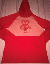 University Of Wisconsin Badgers Hoodie Large Heather Red Fanatics NCAA