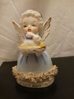 Vintage Fine A Quality Japan April Angel figurine Easter bunny rabbit great