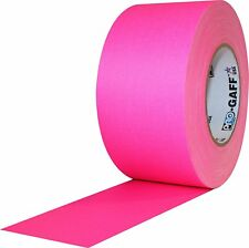 """Pro Gaff Fluorescent Pink Gaffers Tape 3"""" x 50 yard Roll (Pack of 16)"""