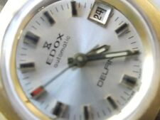 EDOX DELFIN GOLD PLATED AUTOMATIC Ø 25mm -is working-  Ladies watch