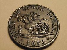 #2863 Canada / Upper; 1/2 Penny Token 1850