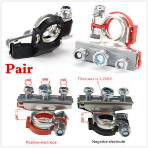 Heavy Duty Car Vehicle 2Pcs Battery Terminal Quick Connector Cable Clamp Clips