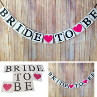 BRIDE TO BE Vintage Wedding Shower Hen Party Decor Bunting Banner Garland