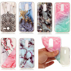 LG ARISTO / K8 2017 / FORTUNE - TPU Rubber Phone Case Cover Marble Stone Pattern
