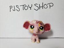 Littlest Pet Shop LPS purple sparkly elephant #2154 Authentic w/ Free Gift