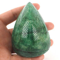 1852 Cts Natural Emerald Certified Huge Museum Size Gemstone - Moghul Carving
