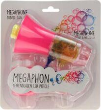 """Seifenblasenpistole """"Megaphon"""" mit LED-Licht inkl. Seifenblasenflüssigkeit pink"""