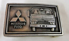 Vintage 1980's MITSUBISHI Belt Buckle FUSO Cabover VAN Diesel 4WD Truck BUS CAR